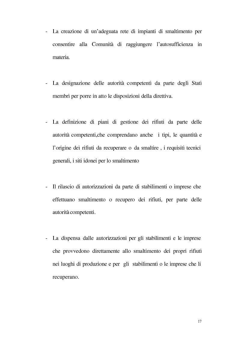 Anteprima della tesi: La disciplina giuridica della gestione dei rifiuti, Pagina 12