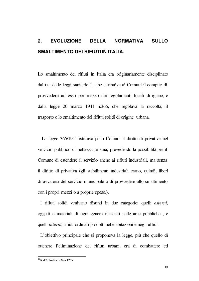 Anteprima della tesi: La disciplina giuridica della gestione dei rifiuti, Pagina 14