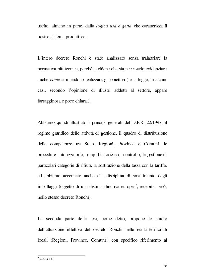 Anteprima della tesi: La disciplina giuridica della gestione dei rifiuti, Pagina 5