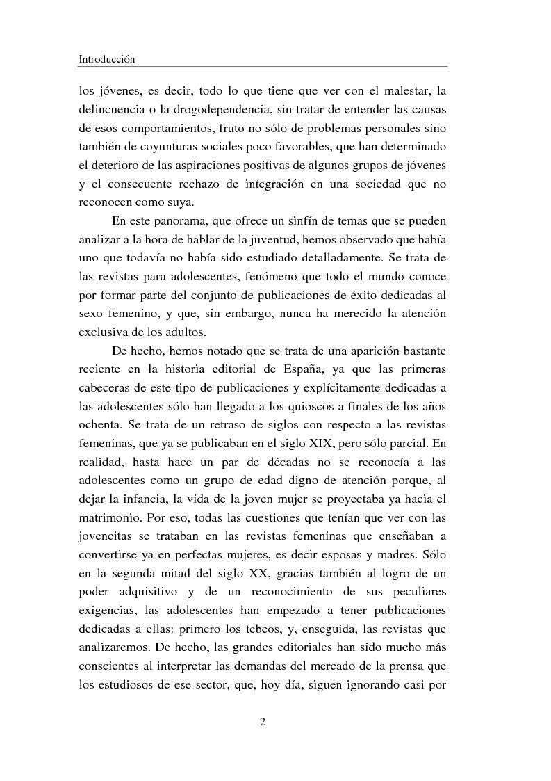 Anteprima della tesi: Cómo se habla de sexo en las revistas españolas para adolescentes, Pagina 2