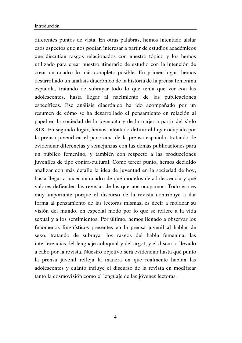 Anteprima della tesi: Cómo se habla de sexo en las revistas españolas para adolescentes, Pagina 4