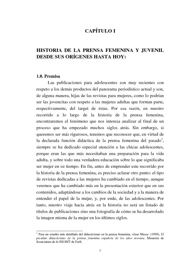Anteprima della tesi: Cómo se habla de sexo en las revistas españolas para adolescentes, Pagina 5
