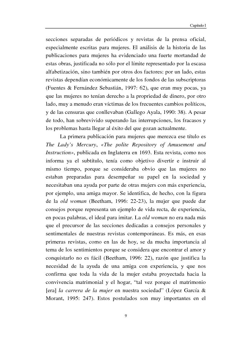 Anteprima della tesi: Cómo se habla de sexo en las revistas españolas para adolescentes, Pagina 7