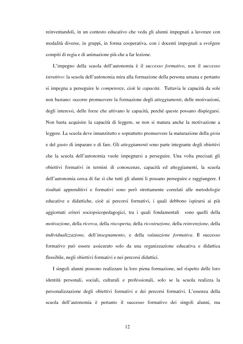 Anteprima della tesi: Il ruolo dell'insegnamento nella modificazione delle rappresentazioni mentali difformi. Un'esperienza di didattica dell'astronomia e della fisica per la scuola dell'obbligo., Pagina 11