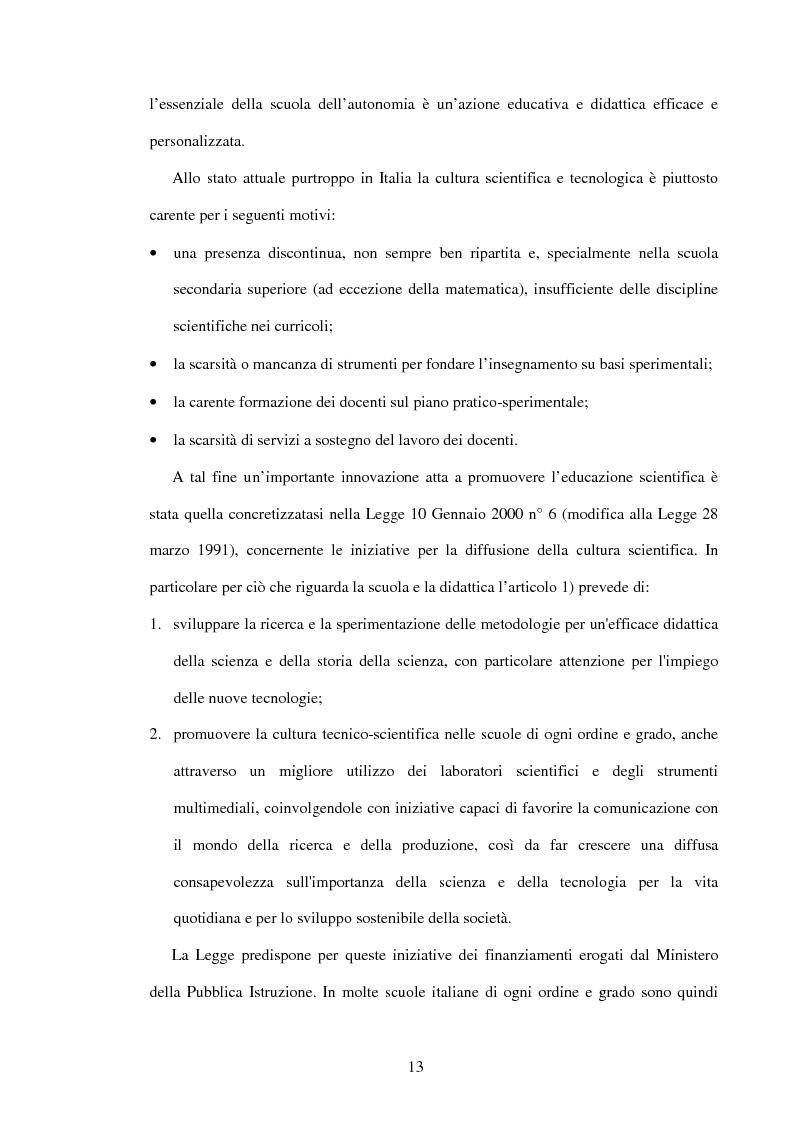 Anteprima della tesi: Il ruolo dell'insegnamento nella modificazione delle rappresentazioni mentali difformi. Un'esperienza di didattica dell'astronomia e della fisica per la scuola dell'obbligo., Pagina 12