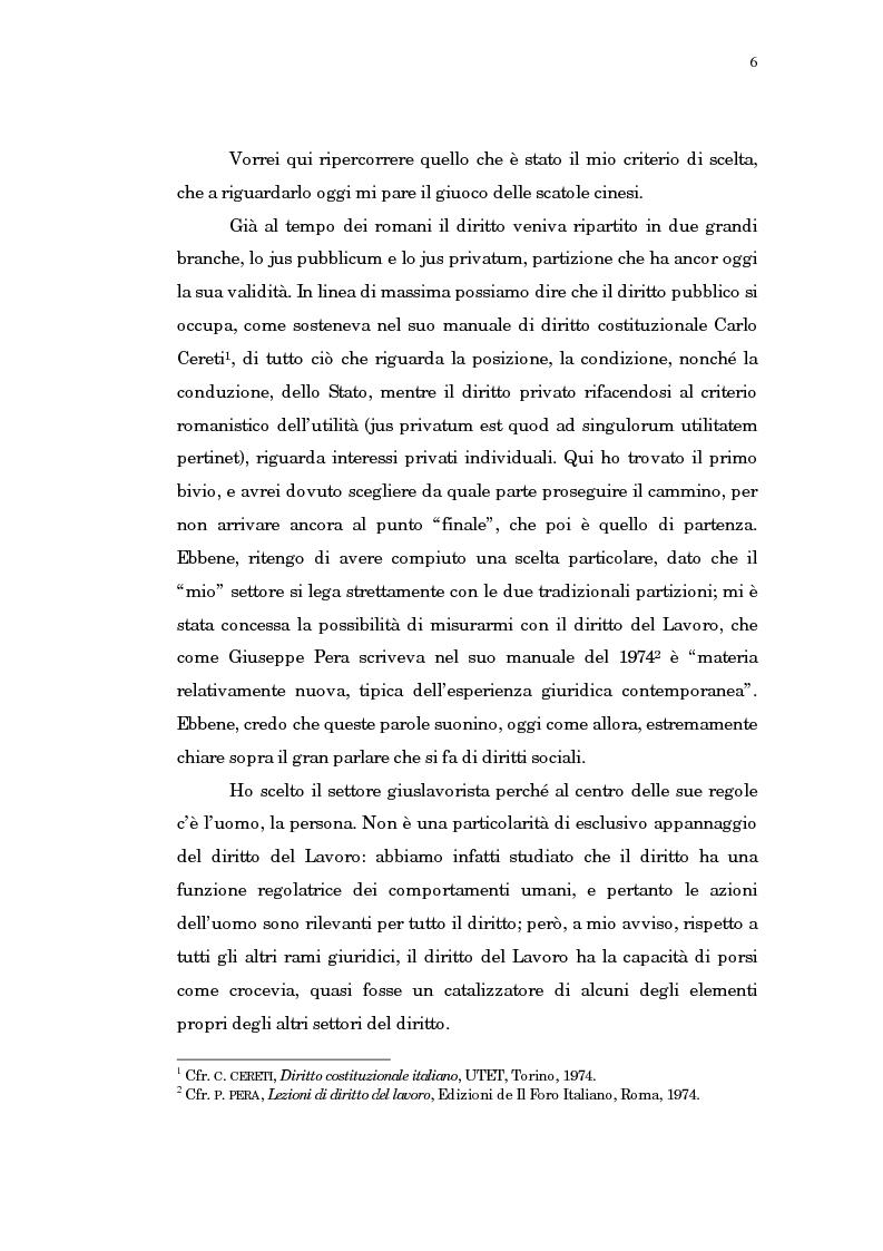 Anteprima della tesi: Il trasferimento di azienda, Pagina 2