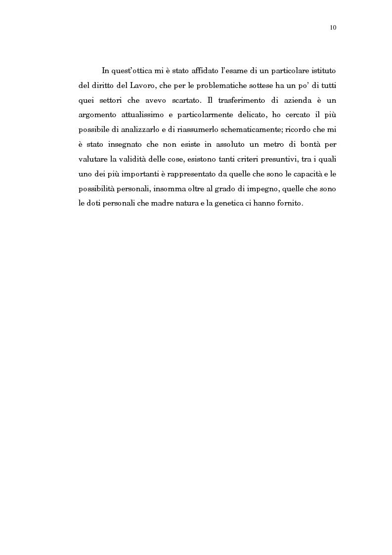Anteprima della tesi: Il trasferimento di azienda, Pagina 6