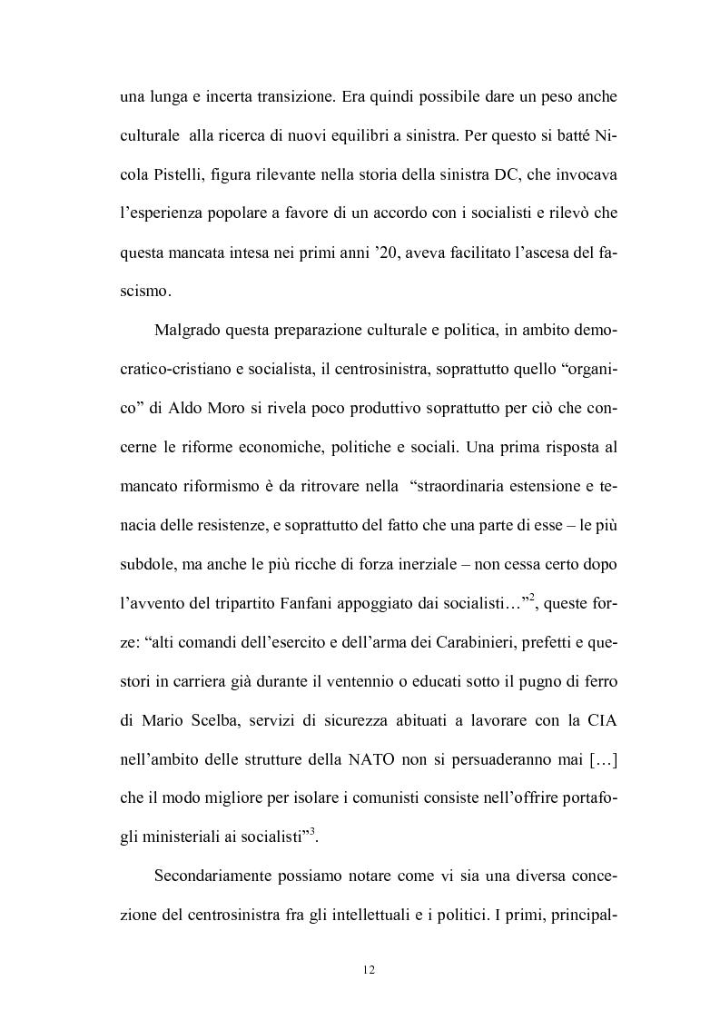 Anteprima della tesi: La politica interna del centrosinistra, Pagina 10