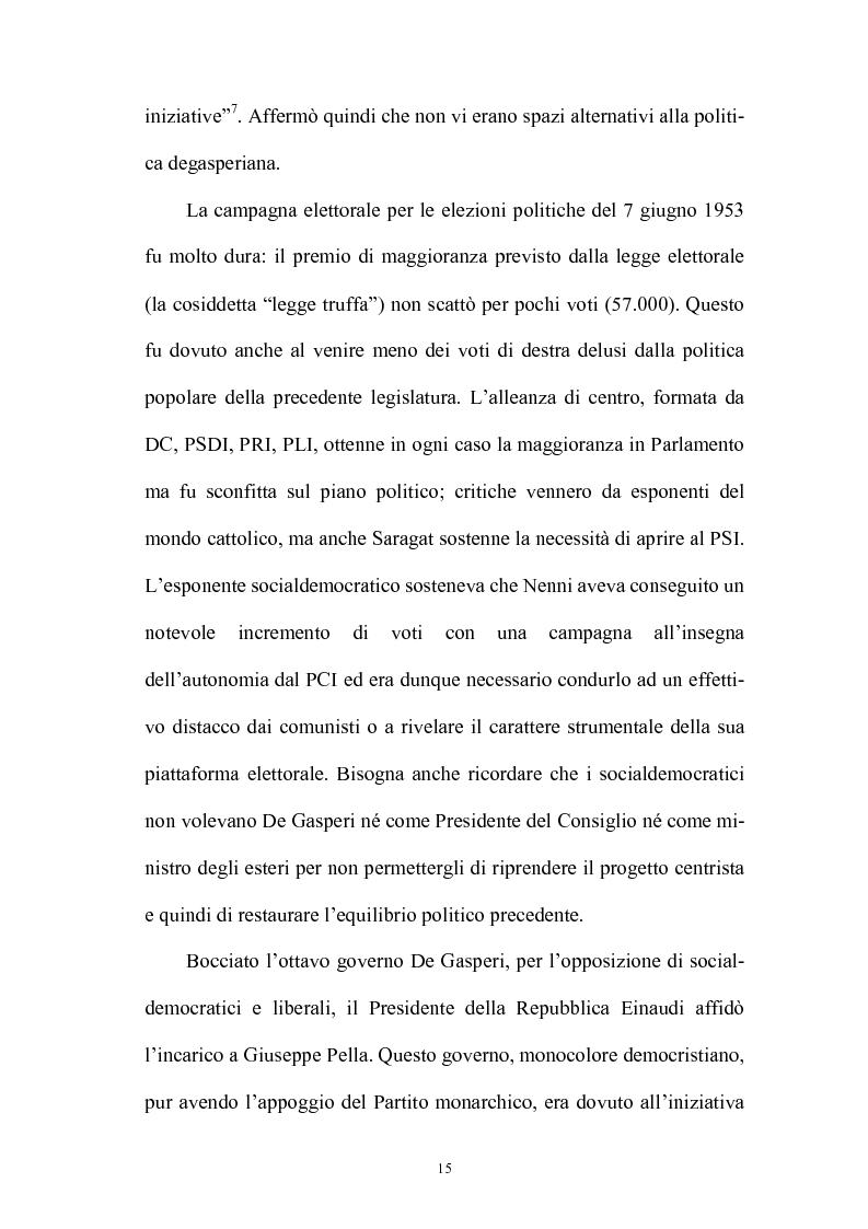 Anteprima della tesi: La politica interna del centrosinistra, Pagina 13