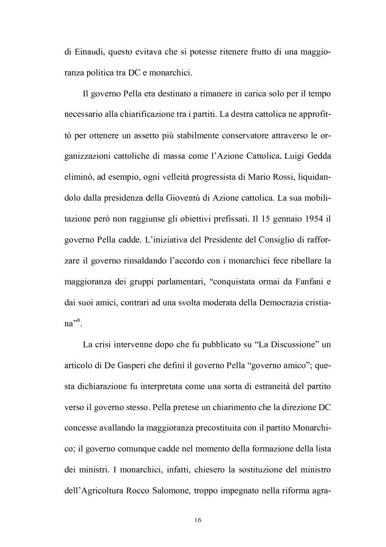 Anteprima della tesi: La politica interna del centrosinistra, Pagina 14