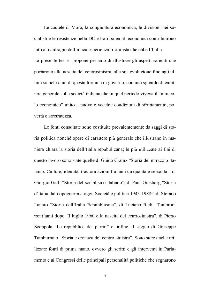 Anteprima della tesi: La politica interna del centrosinistra, Pagina 2