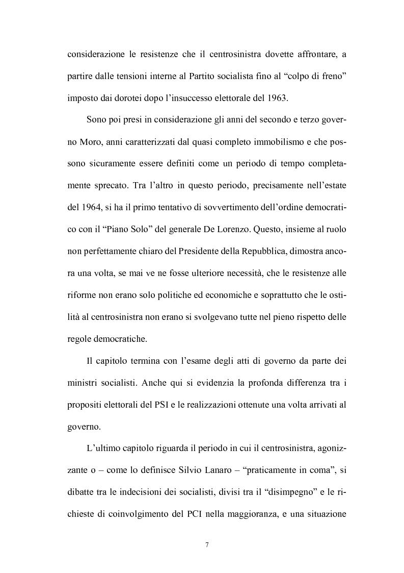 Anteprima della tesi: La politica interna del centrosinistra, Pagina 5