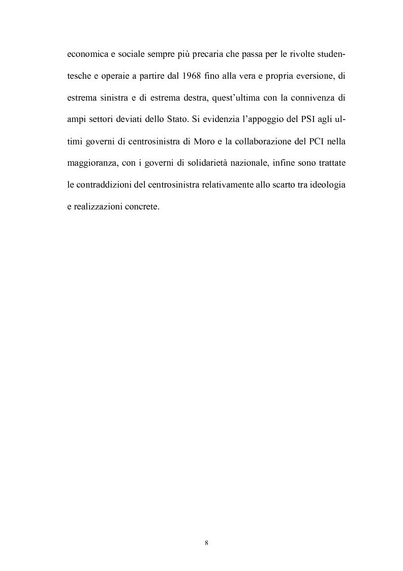 Anteprima della tesi: La politica interna del centrosinistra, Pagina 6