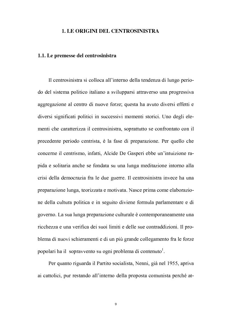 Anteprima della tesi: La politica interna del centrosinistra, Pagina 7