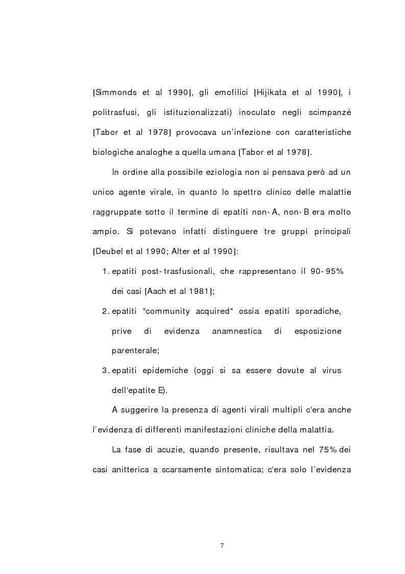 Anteprima della tesi: Indagine epidemiologica sull'infezione da virus dell'epatite C: prevalenza nella popolazione del Nord-Est d'Italia di un nuovo genotipo virale, Pagina 2