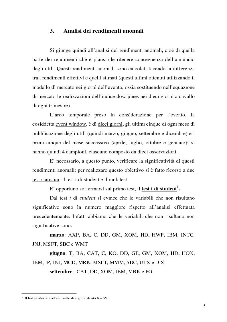 Anteprima della tesi: Event studies in finance, Pagina 5