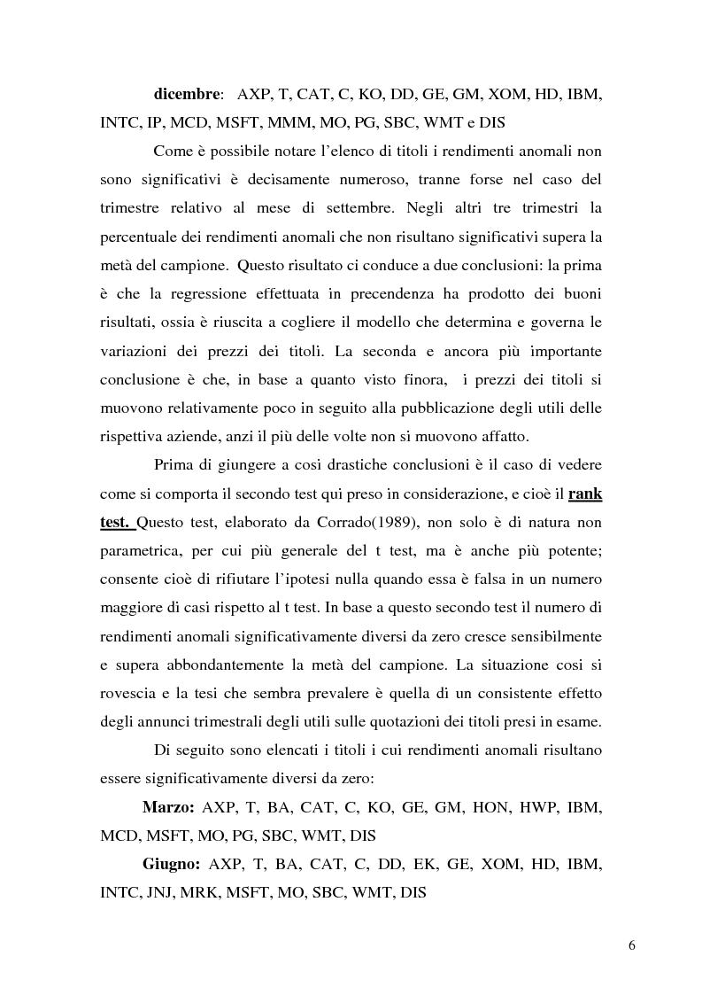 Anteprima della tesi: Event studies in finance, Pagina 6