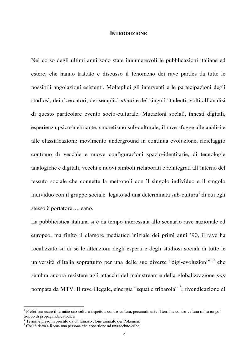 Anteprima della tesi: Technolized. Rave parties e comunità virtuali, Pagina 1