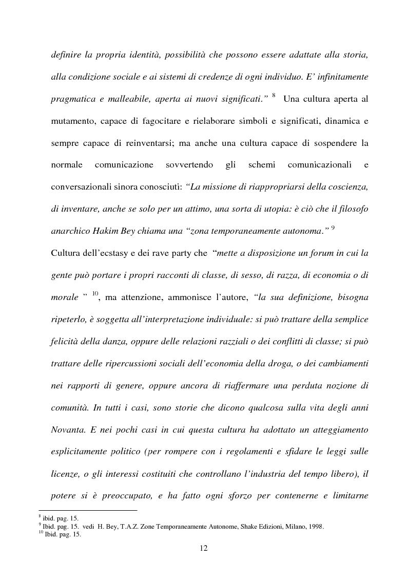 Anteprima della tesi: Technolized. Rave parties e comunità virtuali, Pagina 9