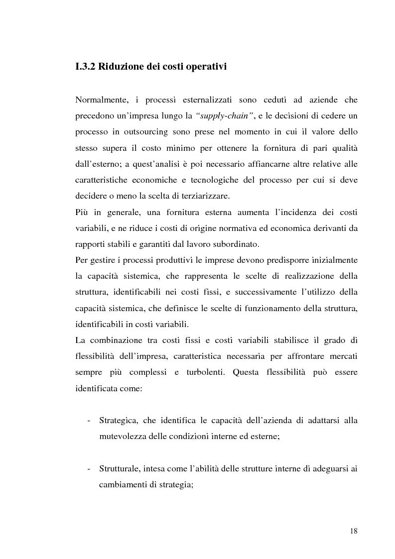 Anteprima della tesi: Il processo di outsourcing ed il modello ASP. Un'analisi del mercato assicurativo, Pagina 13