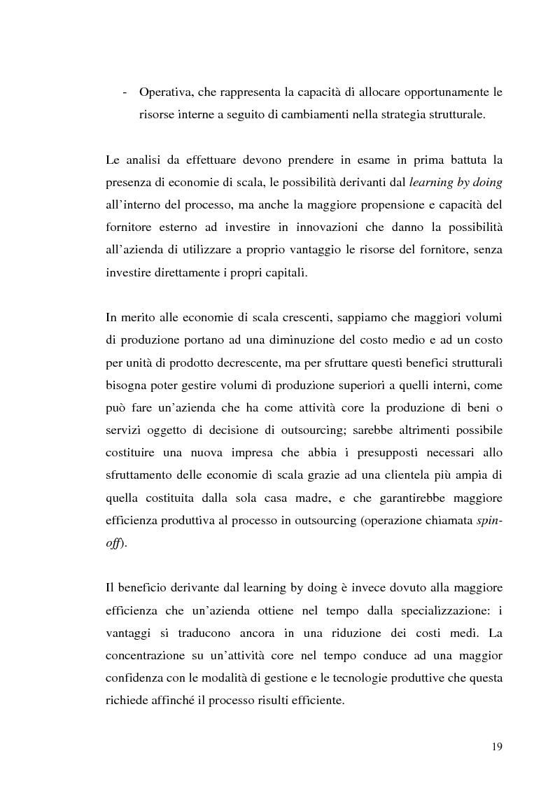 Anteprima della tesi: Il processo di outsourcing ed il modello ASP. Un'analisi del mercato assicurativo, Pagina 14