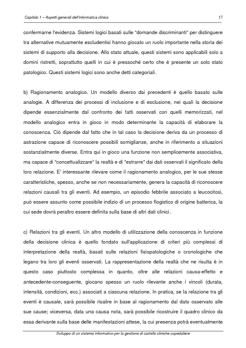 Anteprima della tesi: Sviluppo di un sistema informativo per la gestione di cartelle cliniche ospedaliere, Pagina 14