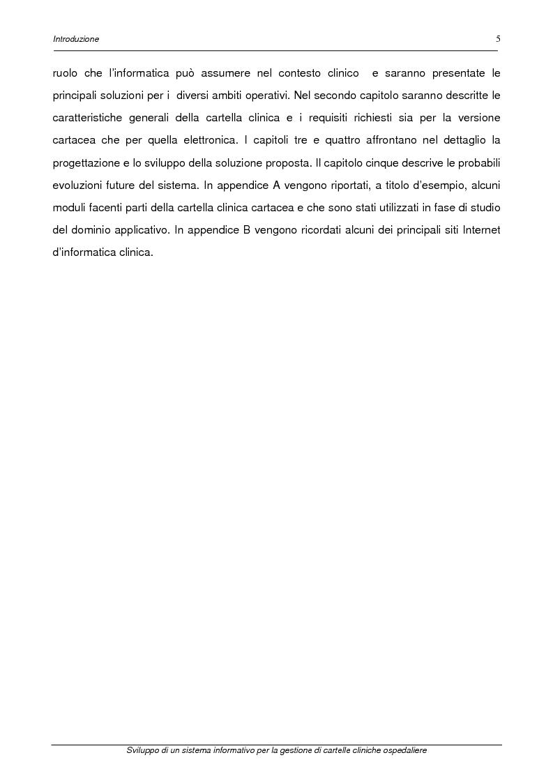 Anteprima della tesi: Sviluppo di un sistema informativo per la gestione di cartelle cliniche ospedaliere, Pagina 2