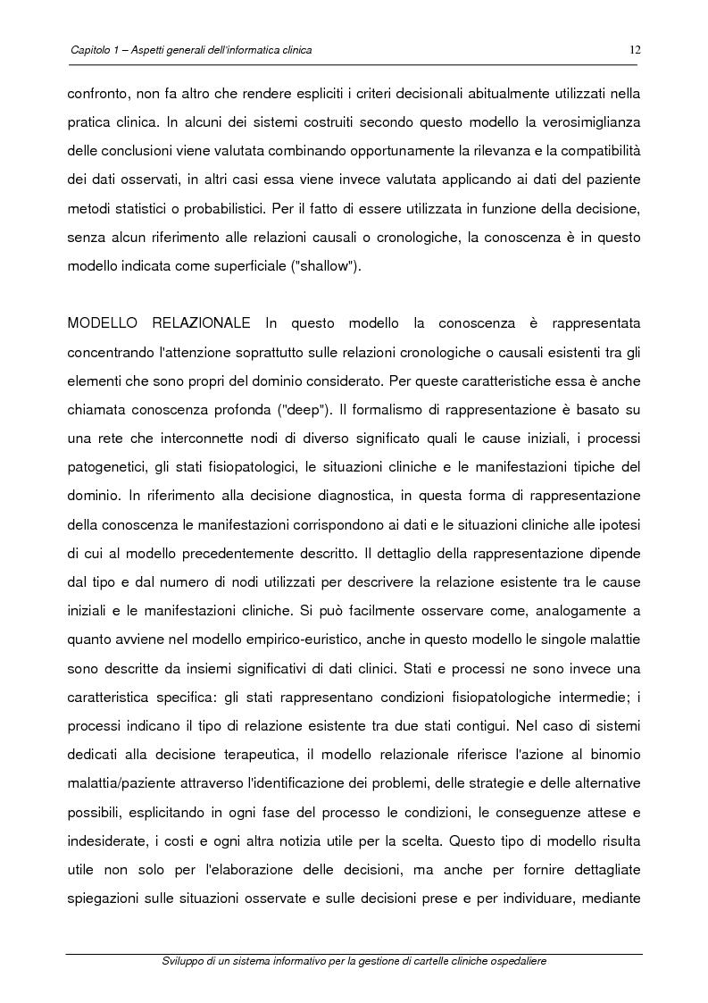 Anteprima della tesi: Sviluppo di un sistema informativo per la gestione di cartelle cliniche ospedaliere, Pagina 9