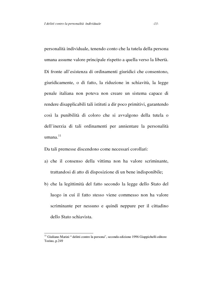Anteprima della tesi: I delitti contro la personalità individuale, Pagina 13