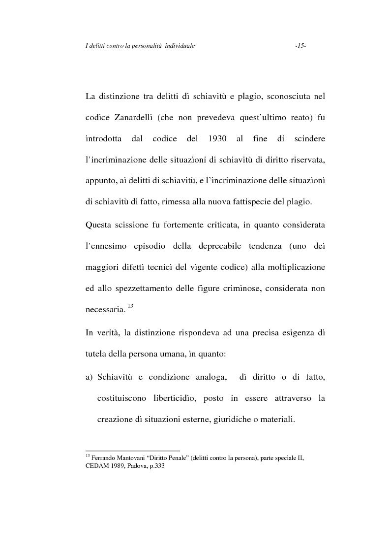 Anteprima della tesi: I delitti contro la personalità individuale, Pagina 15
