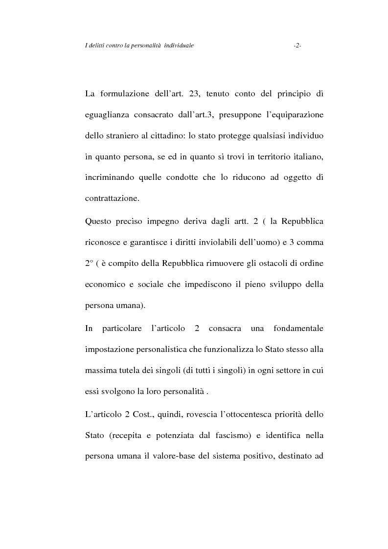 Anteprima della tesi: I delitti contro la personalità individuale, Pagina 2
