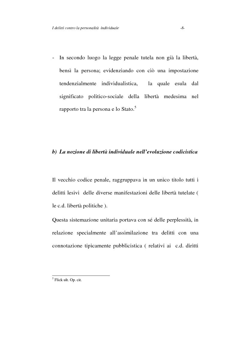 Anteprima della tesi: I delitti contro la personalità individuale, Pagina 8