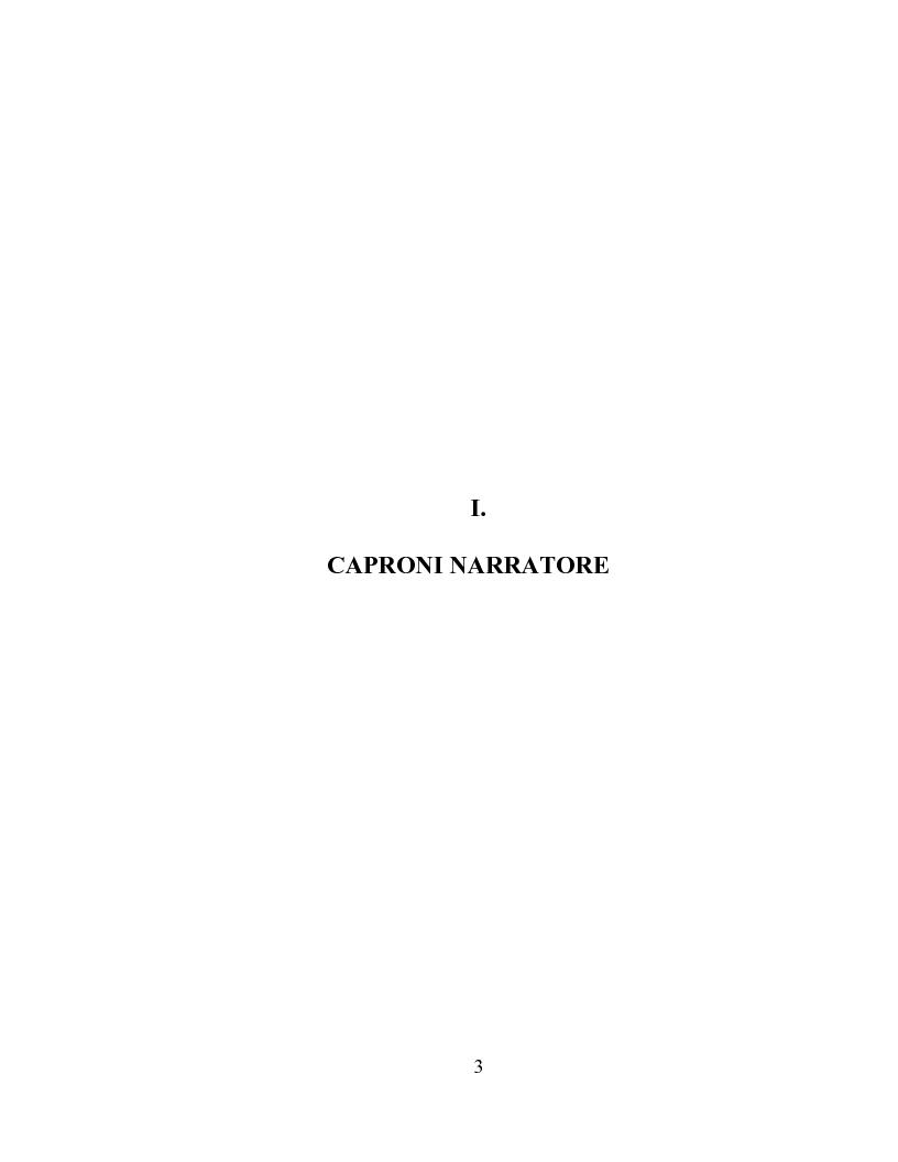 Anteprima della tesi: I racconti di Giorgio Caproni, Pagina 1
