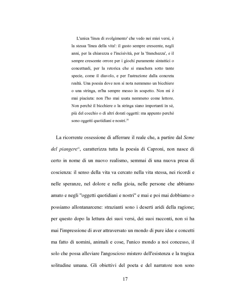 Anteprima della tesi: I racconti di Giorgio Caproni, Pagina 15