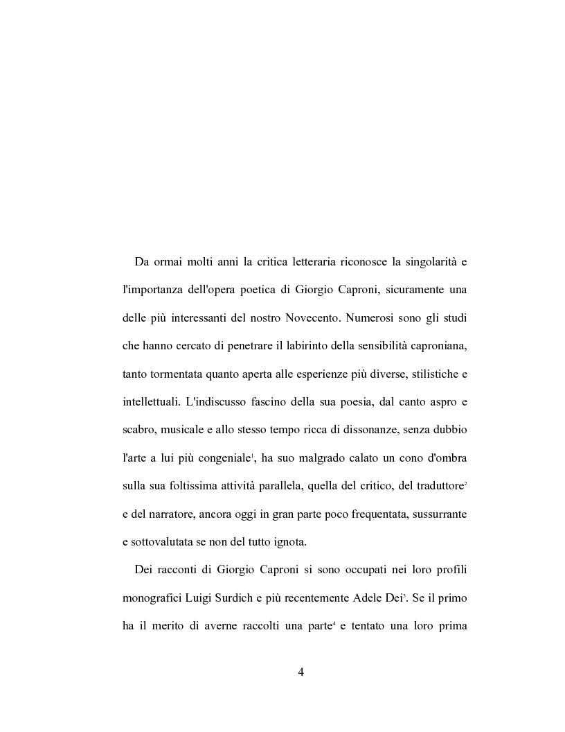 Anteprima della tesi: I racconti di Giorgio Caproni, Pagina 2