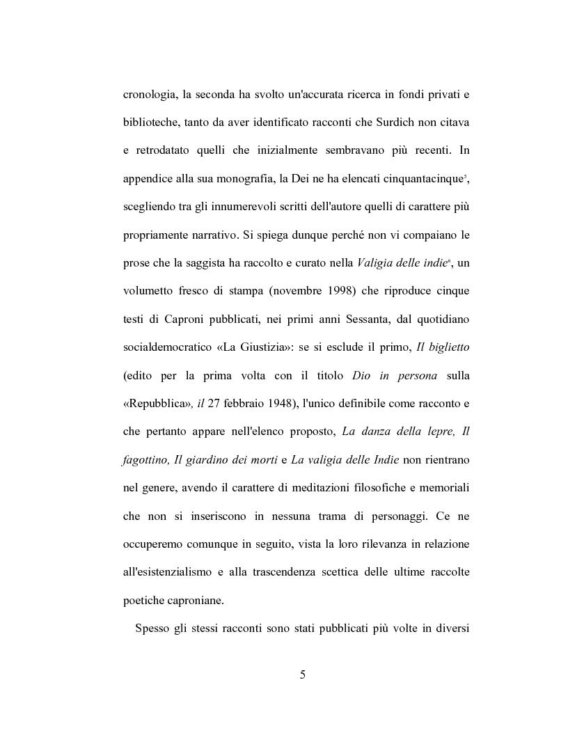 Anteprima della tesi: I racconti di Giorgio Caproni, Pagina 3