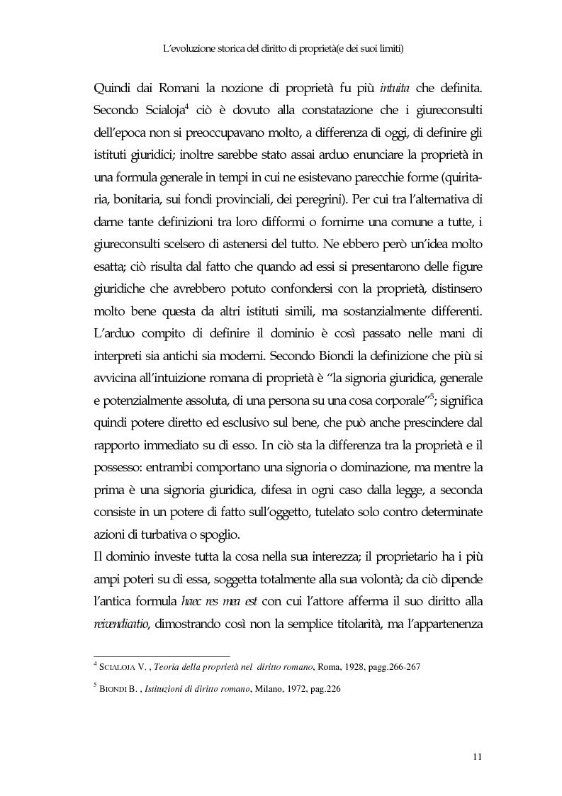 Anteprima della tesi: Il diritto di proprietà e il potere espropriativo dello Stato nella Costituzione e nel diritto vigente, Pagina 10