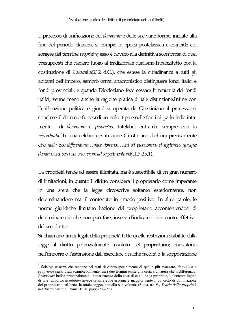 Anteprima della tesi: Il diritto di proprietà e il potere espropriativo dello Stato nella Costituzione e nel diritto vigente, Pagina 12