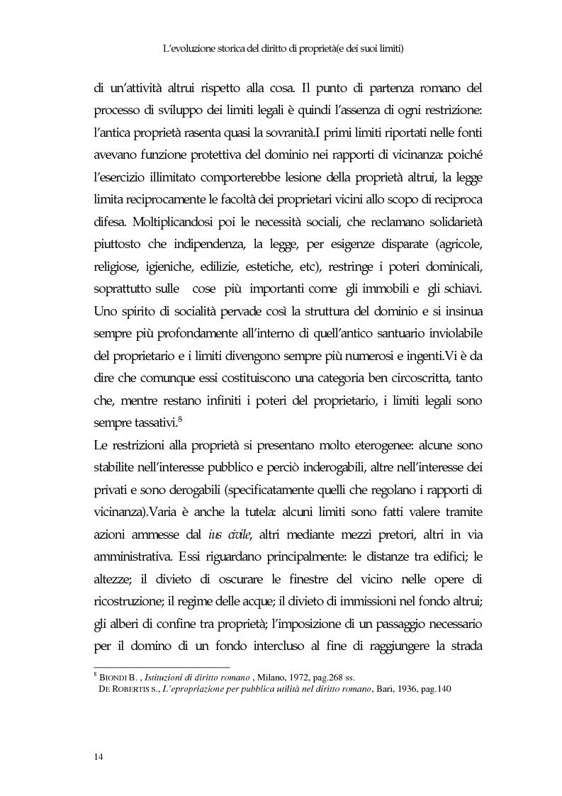 Anteprima della tesi: Il diritto di proprietà e il potere espropriativo dello Stato nella Costituzione e nel diritto vigente, Pagina 13