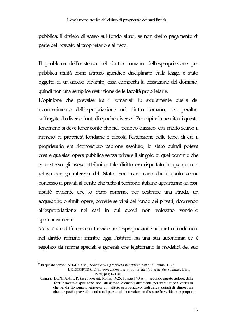 Anteprima della tesi: Il diritto di proprietà e il potere espropriativo dello Stato nella Costituzione e nel diritto vigente, Pagina 14