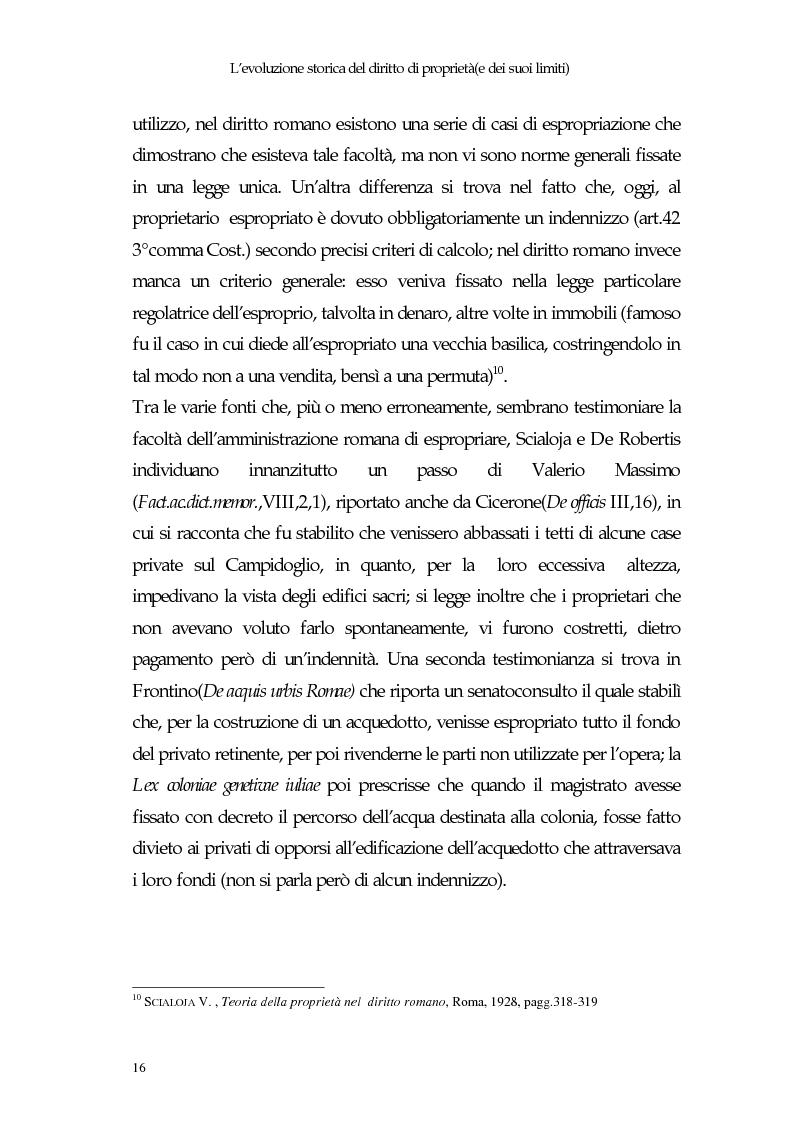 Anteprima della tesi: Il diritto di proprietà e il potere espropriativo dello Stato nella Costituzione e nel diritto vigente, Pagina 15