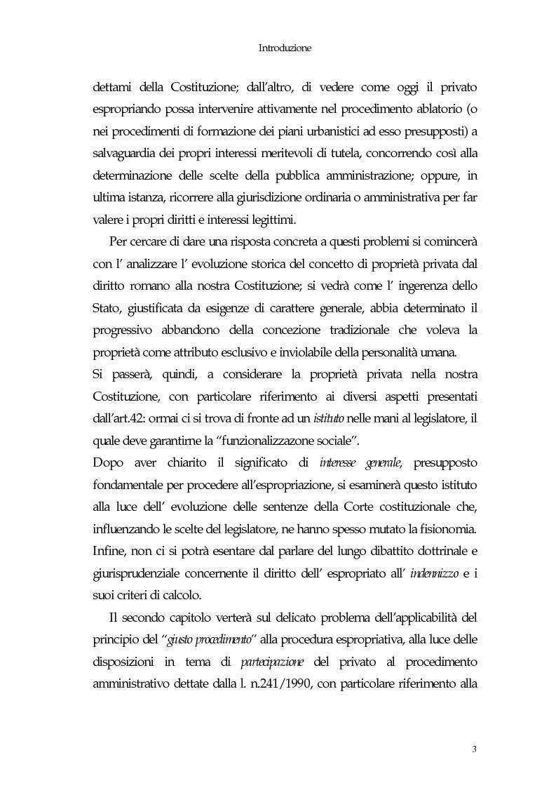 Anteprima della tesi: Il diritto di proprietà e il potere espropriativo dello Stato nella Costituzione e nel diritto vigente, Pagina 3