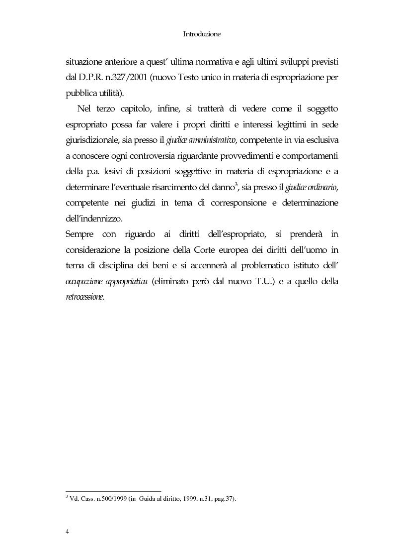 Anteprima della tesi: Il diritto di proprietà e il potere espropriativo dello Stato nella Costituzione e nel diritto vigente, Pagina 4