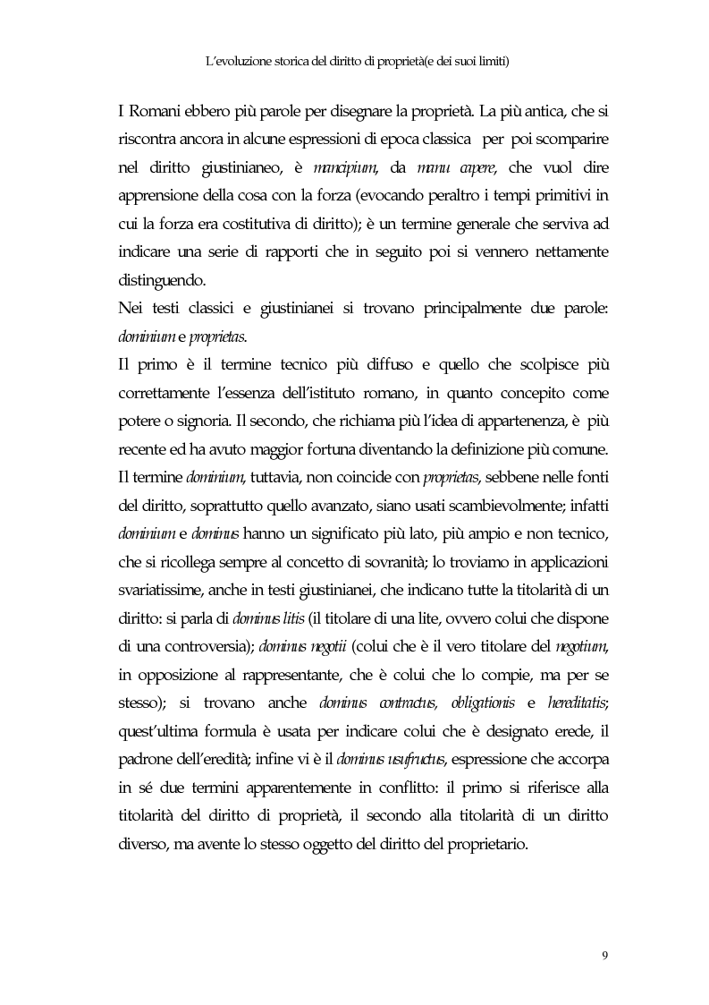 Anteprima della tesi: Il diritto di proprietà e il potere espropriativo dello Stato nella Costituzione e nel diritto vigente, Pagina 8