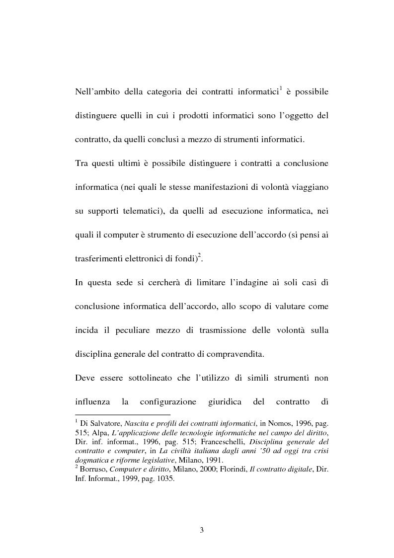 Anteprima della tesi: La compravendita in Internet, Pagina 3