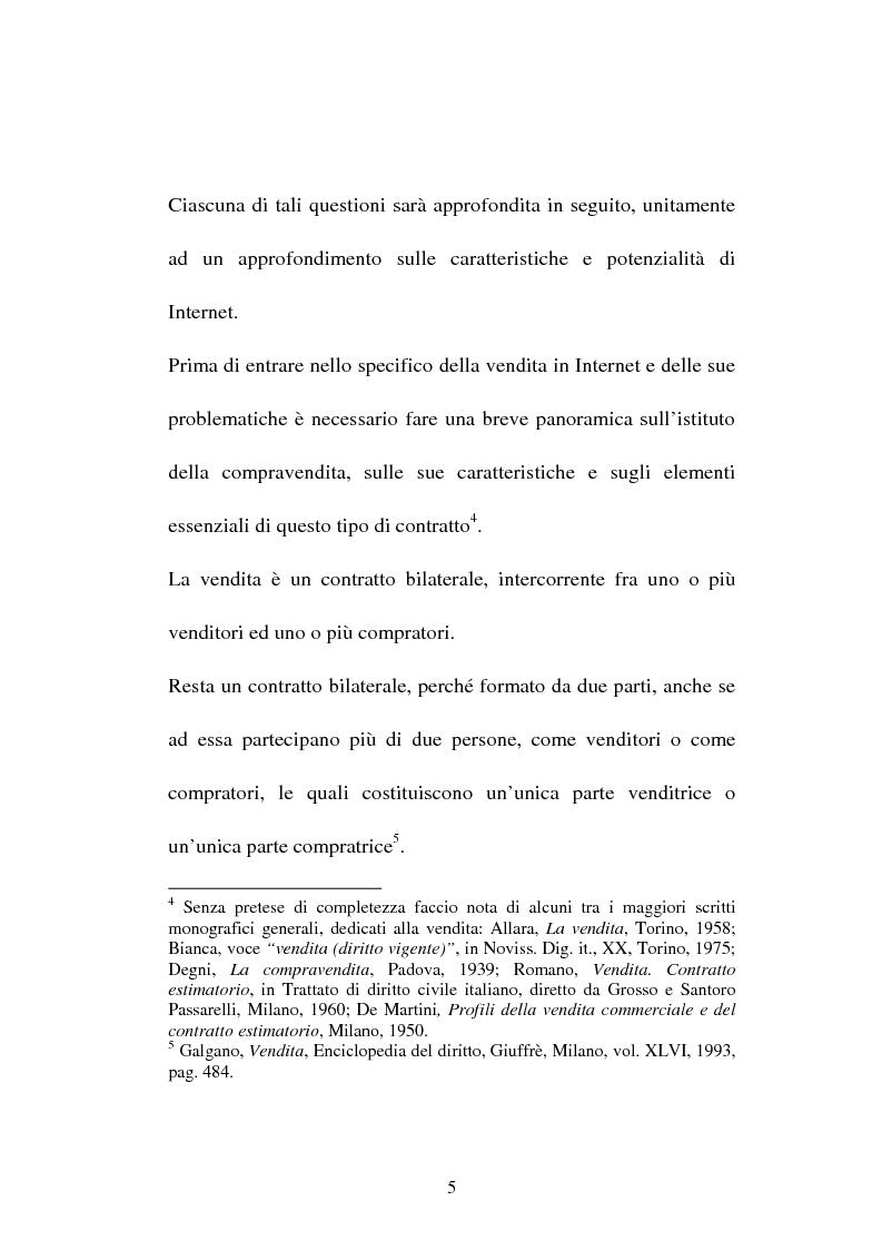 Anteprima della tesi: La compravendita in Internet, Pagina 5