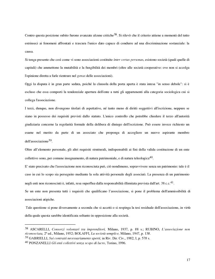 Anteprima della tesi: L'attività d'impresa degli enti senza scopo di lucro, Pagina 14