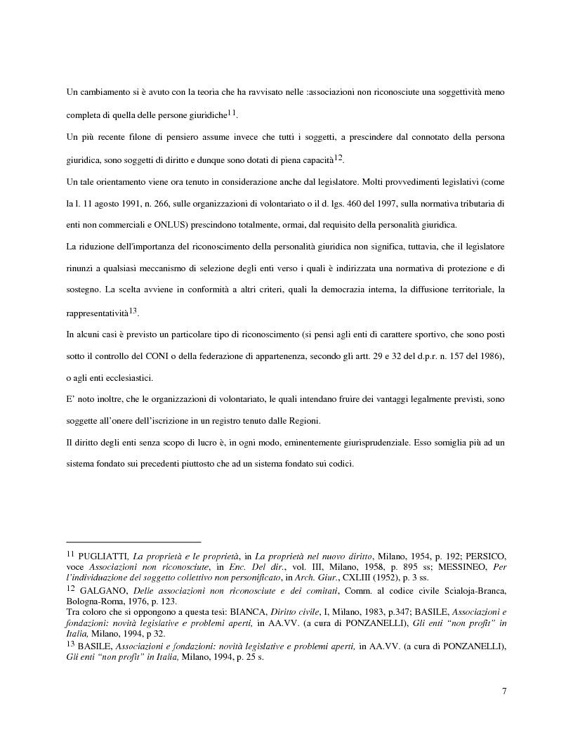 Anteprima della tesi: L'attività d'impresa degli enti senza scopo di lucro, Pagina 4