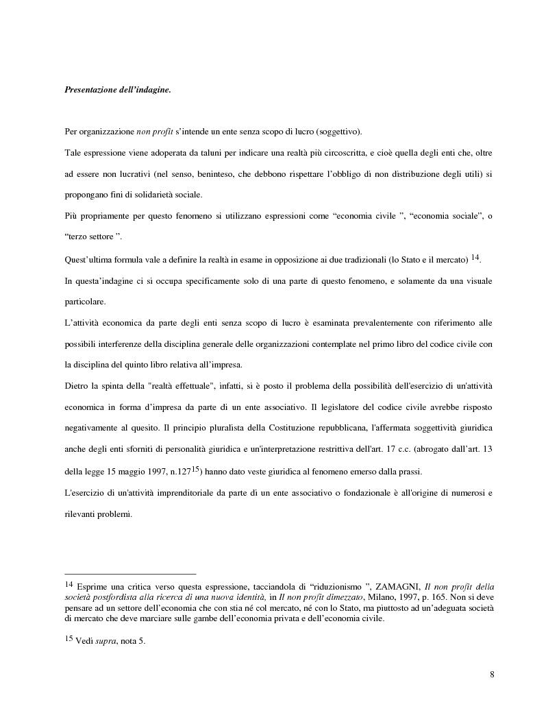 Anteprima della tesi: L'attività d'impresa degli enti senza scopo di lucro, Pagina 5