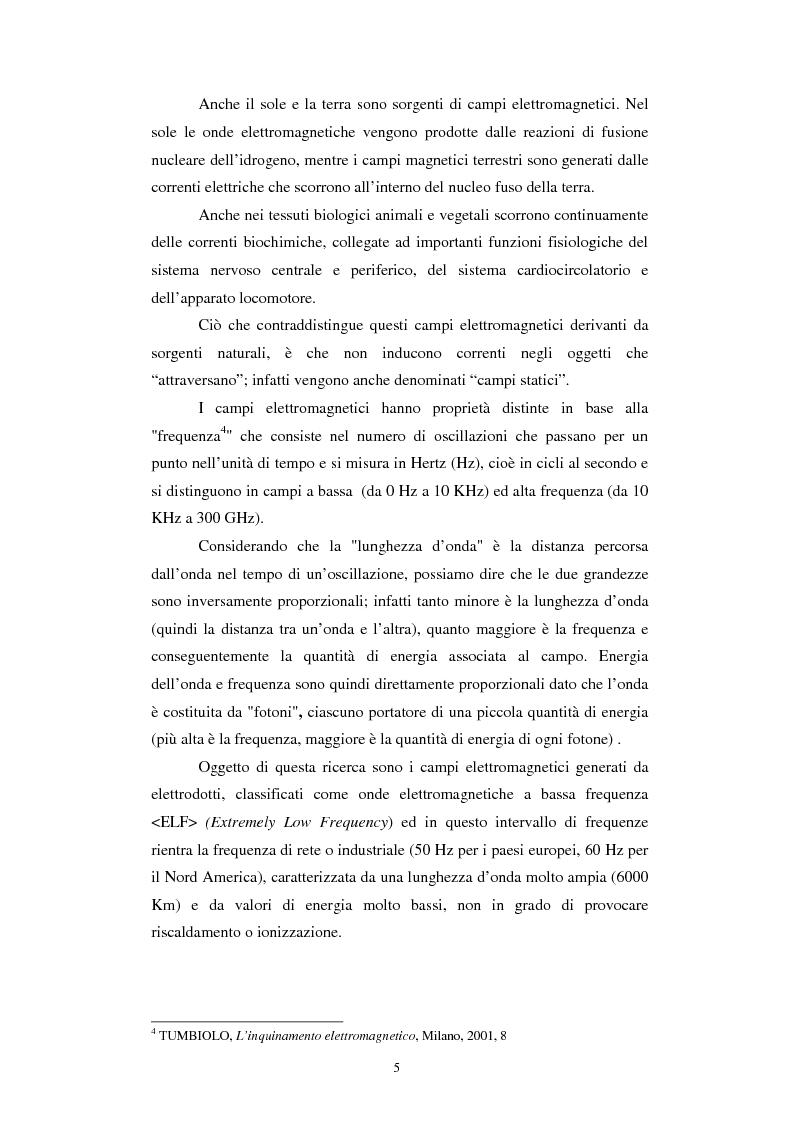 Anteprima della tesi: Inquinamento elettromagnetico da elettrodotti, Pagina 3